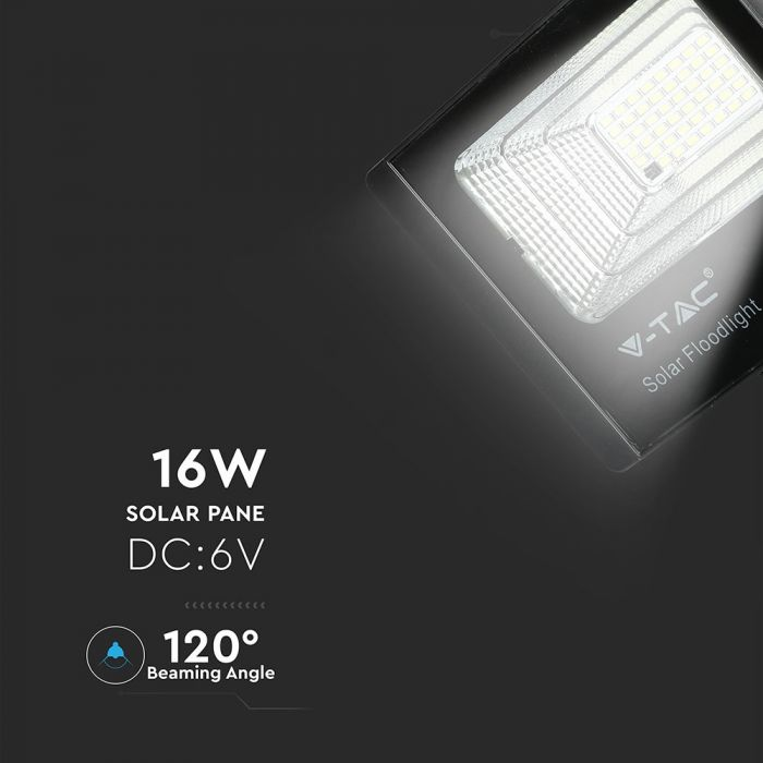 solar floodlight with remote