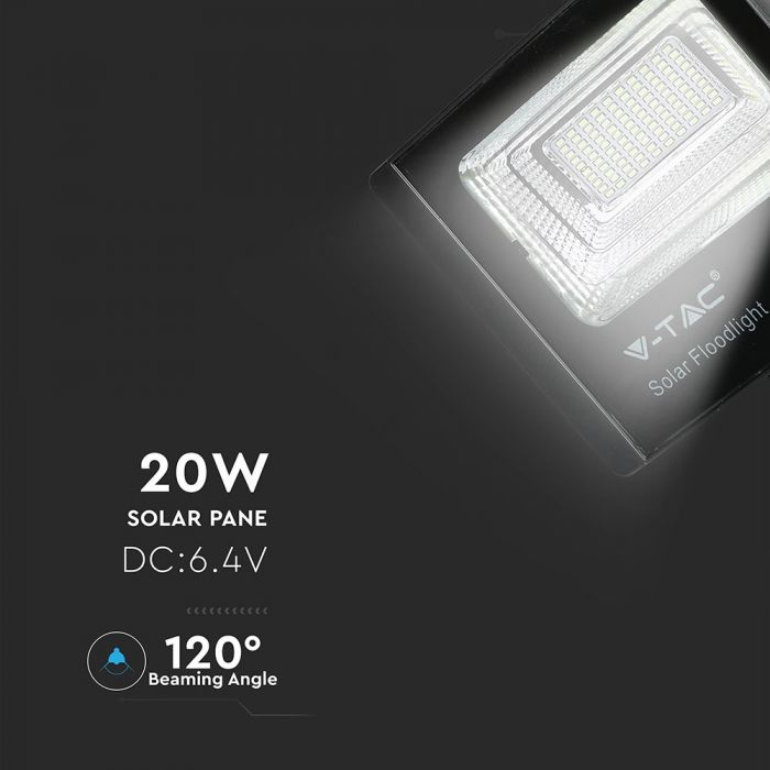 20W solar powered floodlight