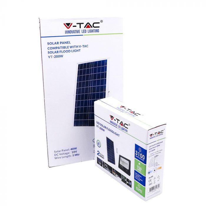 40W solar panel floodlight, V-Tac VT-200W