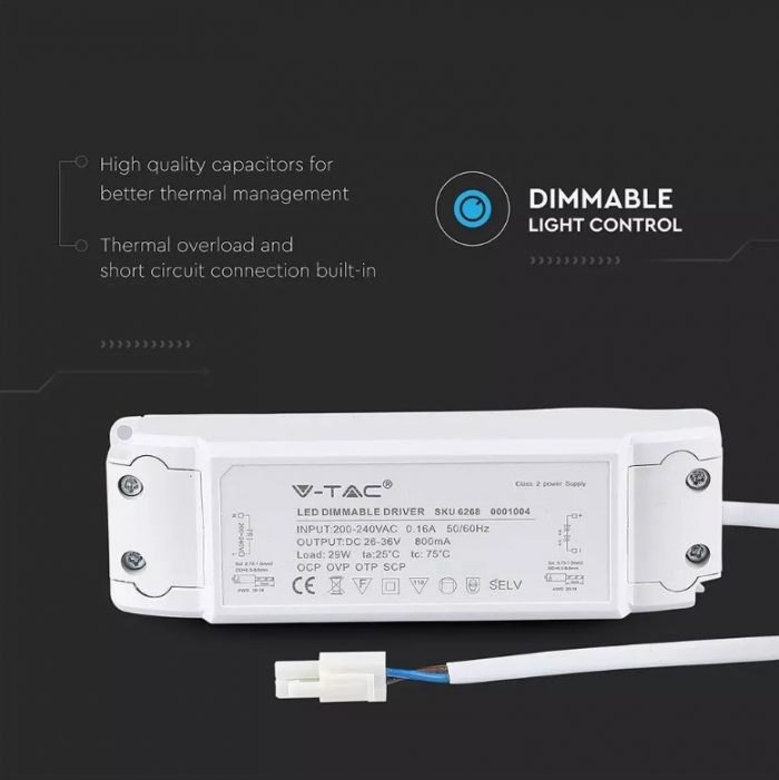 29W Dimmable Driver for LED panel