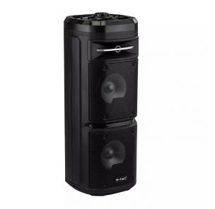 30W Rechargeable Speaker RGB -1 Wired Microphone - 2 Sub Woofer - RF Control