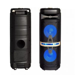 120W Rechargeable Trolley Speaker RGB - 2 Microphones - 2 Sub Woofer 10 Inch- RF Control