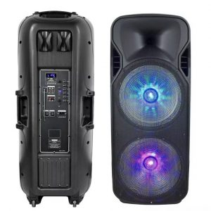 150W Rechargeable Trolley Speaker - 2 Microphones -RF Control