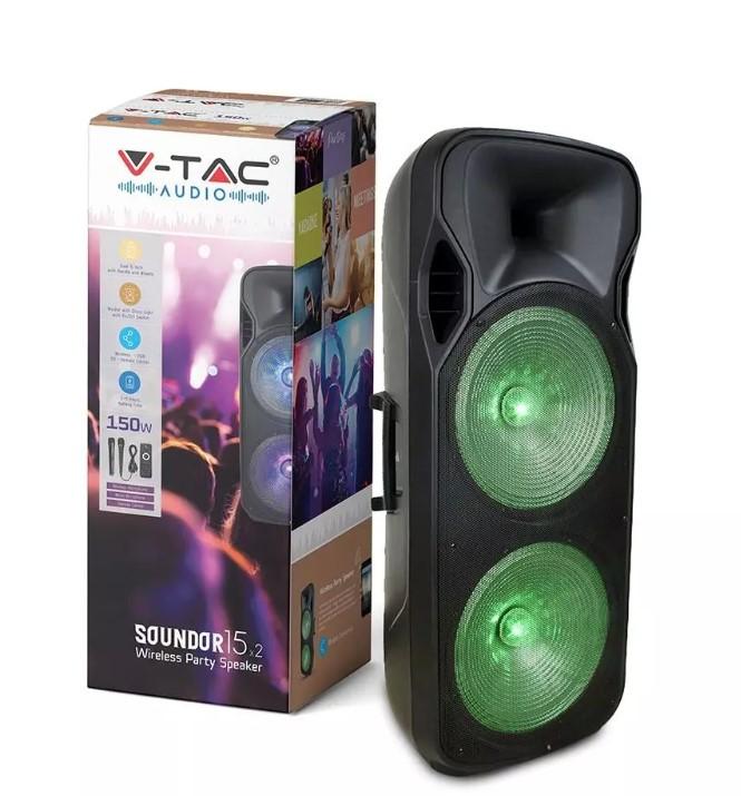 150W Rechargeable Trolley Speaker - 2 Microphones -RF Control