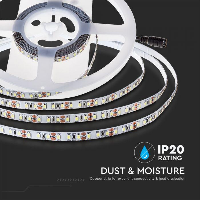 7.2W LED Strip 120 LED's IP20 24V Double PCB - 10m Reel