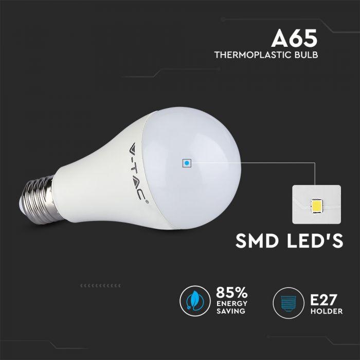 15W LED Thermoplastic Bulb A65 - 160 Lm/W