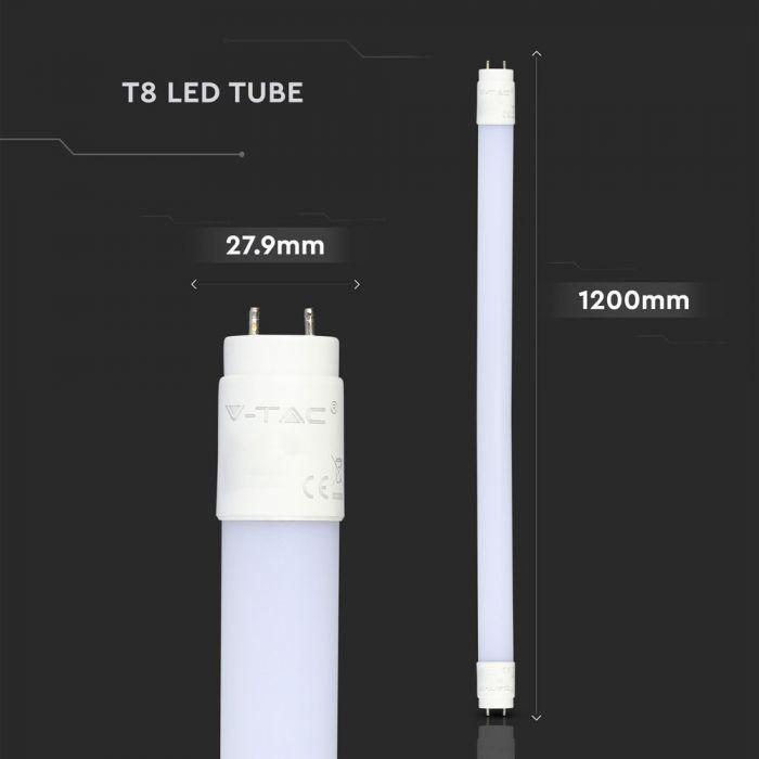 12W LED Tube 120cm - 160 Lm/W - T8 Nano Plastic