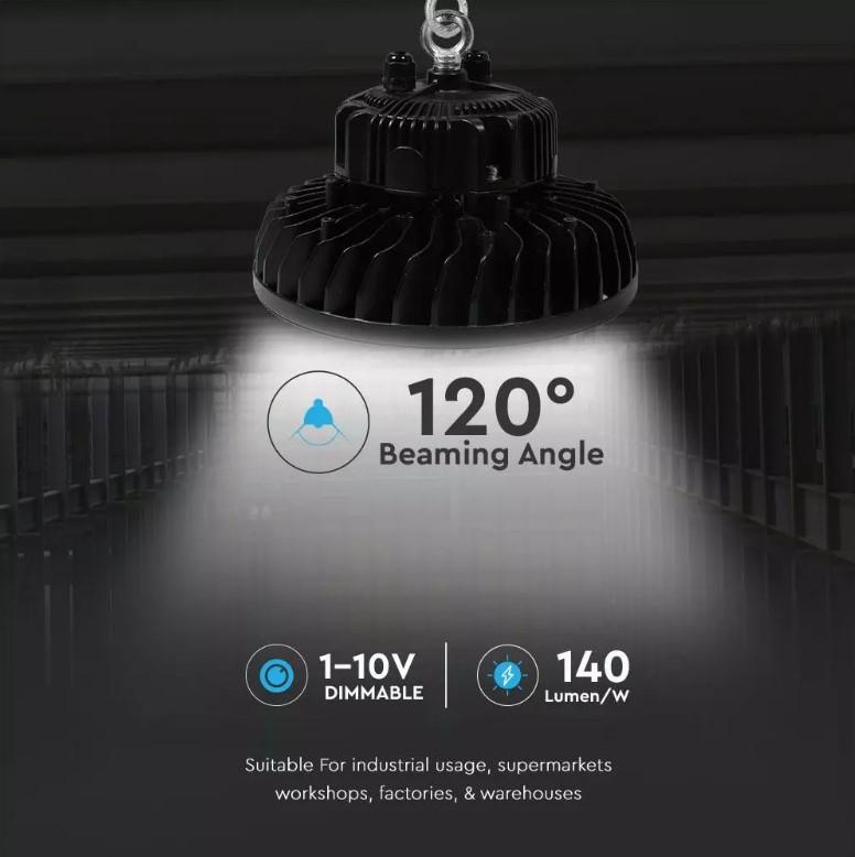 200W UFO High-Bay (MeanWell SAMSUNG) 140 Lumens/Watt 5 yrs Warranty