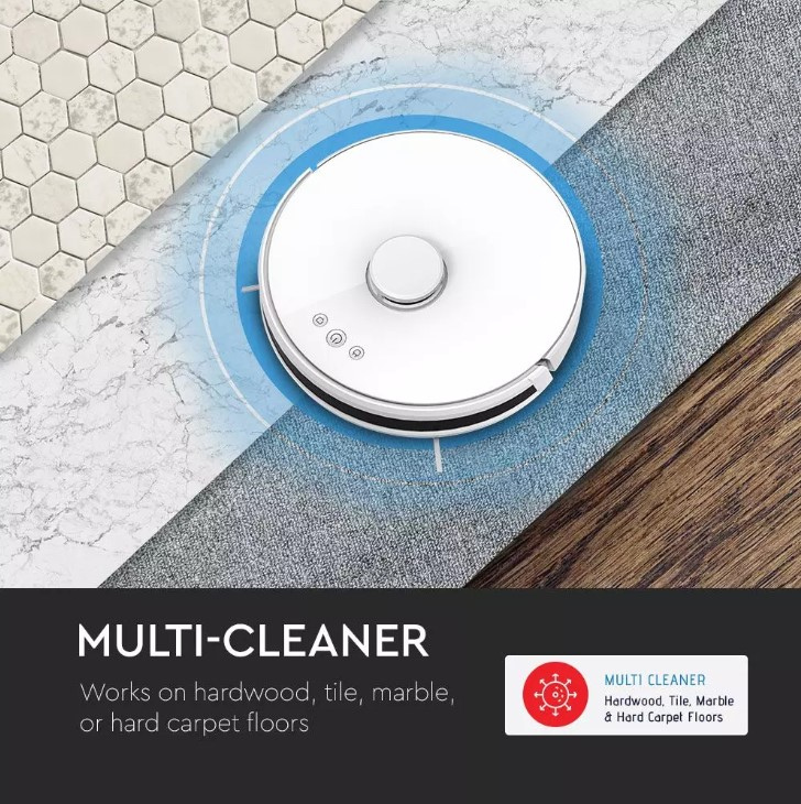 Auto Laser Vacuum Cleaner Robotic - Smart - Amazon Alexa & Google Home Compatible