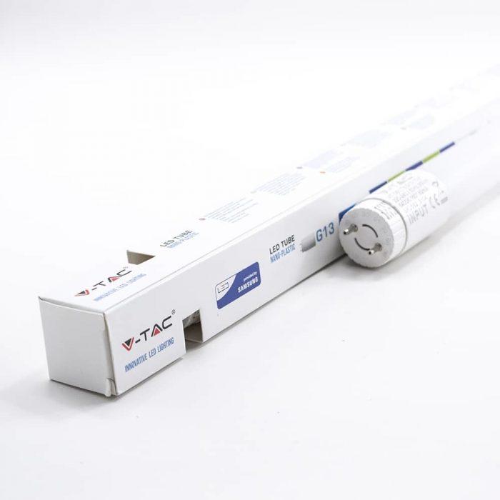 7W LED Tube 60cm - 160 Lm/W - T8 Nano Plastic