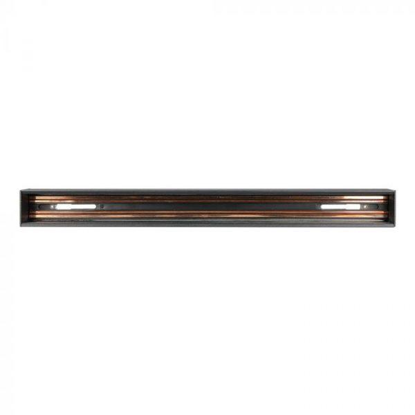 Recessed Aluminium Track Rail for Magnetic Track lights Black