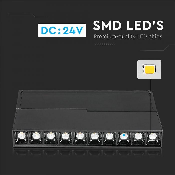 10*2W LED Magnetic SMD Gimbal Linear Spotlight IP20 24V