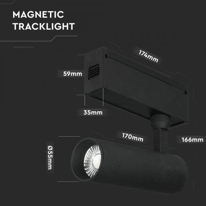 15W LED Magnetic Spotlight IP20 24V