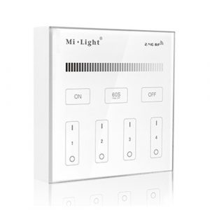 4 Zone Panel Remote Controller Single Colour