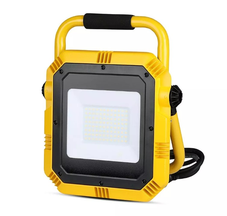 50W LED Work Floodlight 3m Cable BS Blug