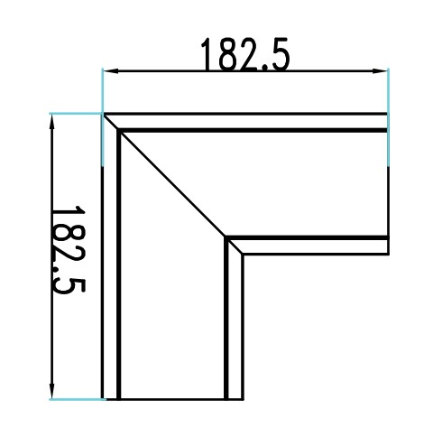 10W L Shape Connector  4000K 90mm