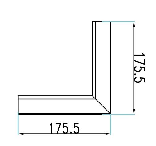 12W L Shape Connector 4000K 90mm