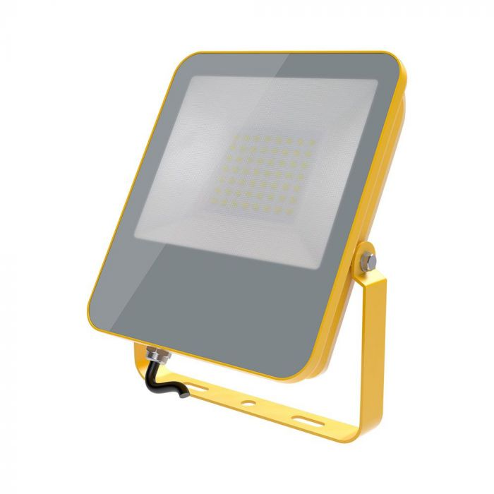 50W LED Floodlight Yellow Body 1.5M Cable BS plug