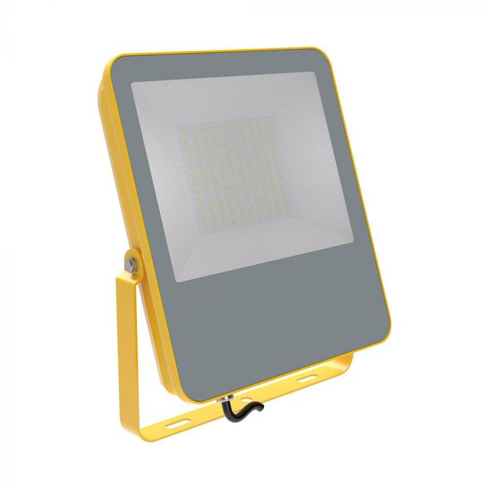 100W LED Floodlight Yellow Body 1.5M Cable BS Plug