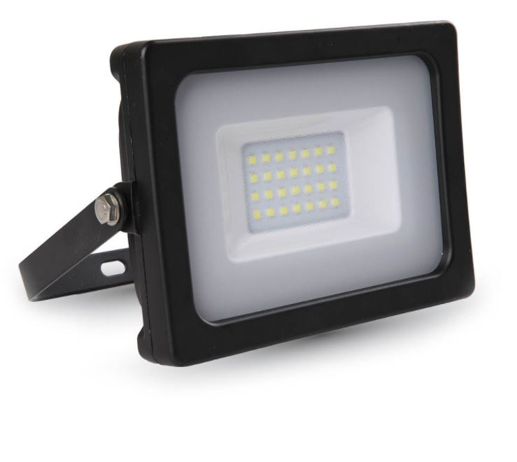 20W Slimline Floodlight Black 6000K