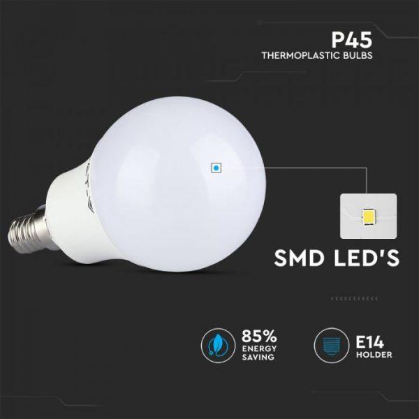 5.5W P45 LED Plastic Bulb CRI>95