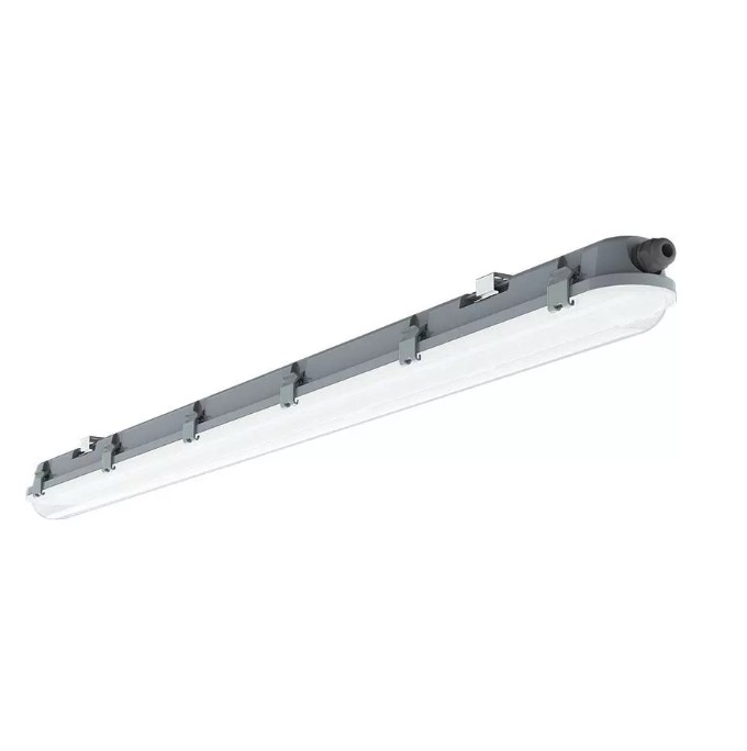 36W LED Waterproof Fitting 4 feet /120cm - Milky Cover - Samsung Chip