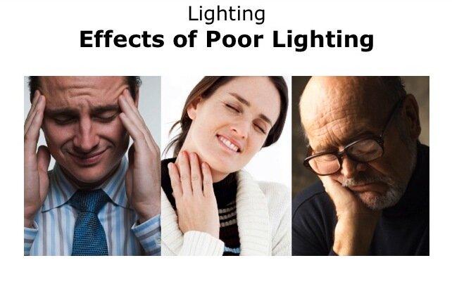 Effect of poor lights