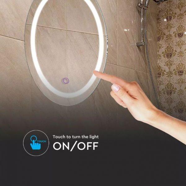 25W LED Round Mirror Light CCT 3in1 Anti-Fog  60cm