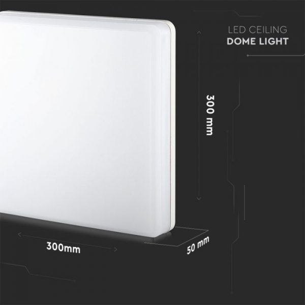25W Ceiling Light 120LM/W Round/ Square IP44