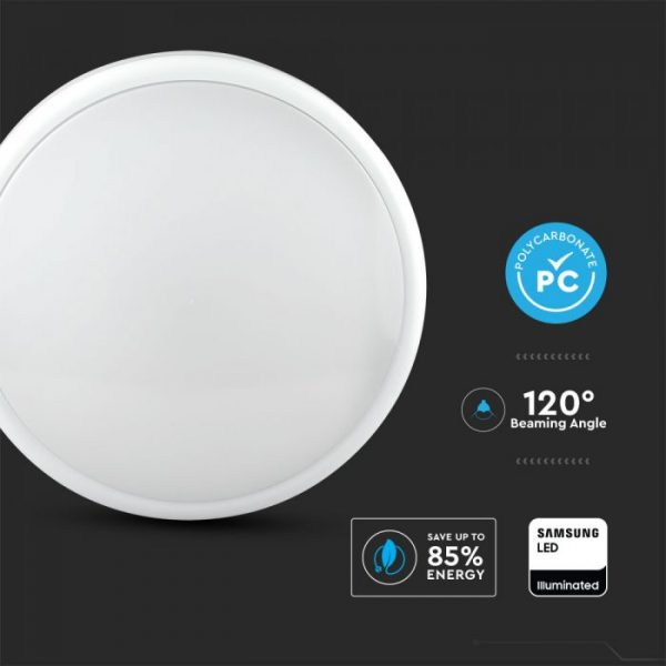 14W LED Dome Light CCT 3in1- with Emergency Battery and Sensor - Samsung Chip IP65