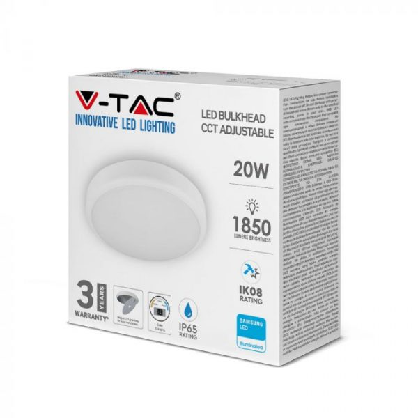 20W LED Dome Light CCT 3in1 with Emergency Battery - Samsung Chip IP65