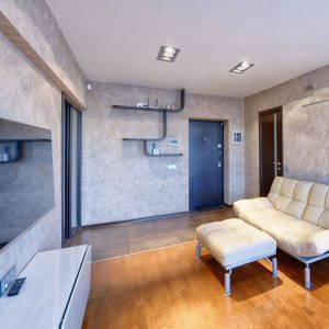 3xAR111 Housing Square Triple White/ Black