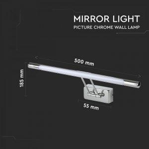 8W LED Mirror Lamp Chrome 3000K/4000K