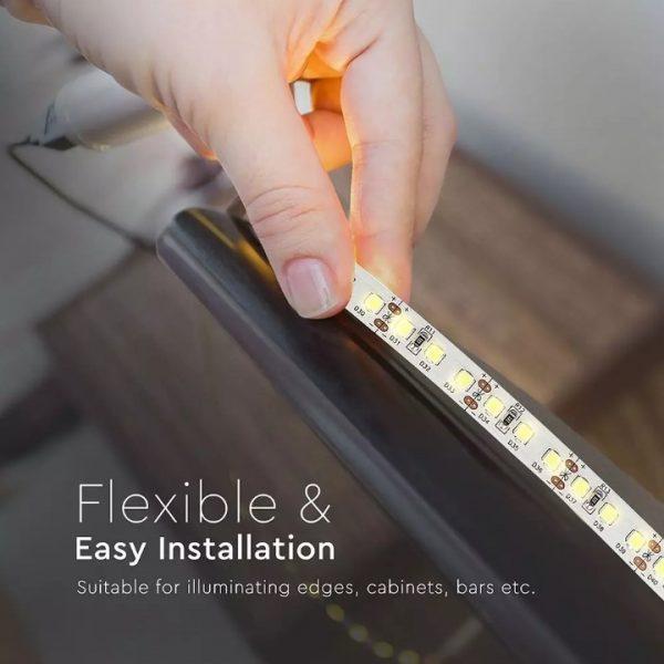 12W LED Strip 120 LED's IP20 12V - 5m Reel CRI>80