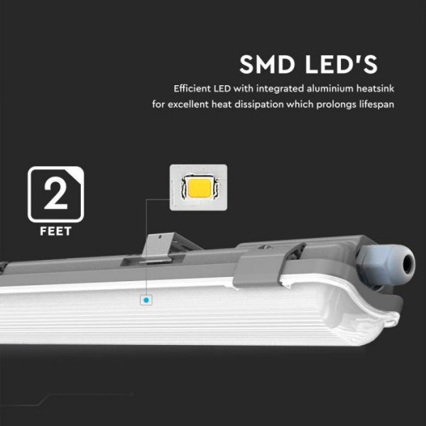18W Waterproof Fitting with 1 LED Tube IP65 (120cm)