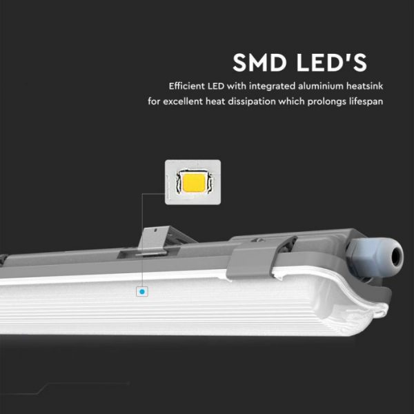 10W Waterproof Fitting with 1 LED Tube IP65 (60cm)