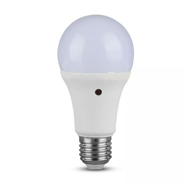 9W A60 LED Plastic Sensor Bulb 200'D E27