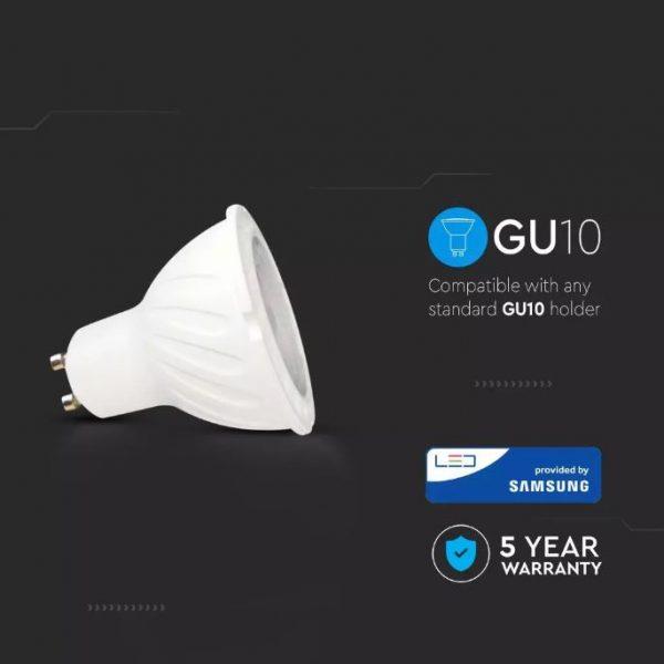 6W GU10 Ripple Plastic Spotlight 10°