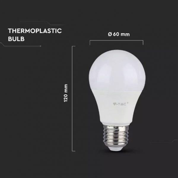 12W LED Plastic Bulb A60 E27 Dimmable