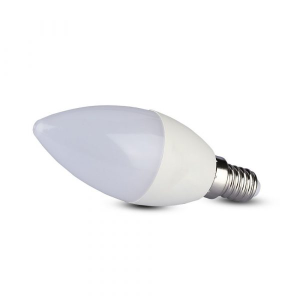 5.5W LED Candle Plastic Bulb E14 Dimmable