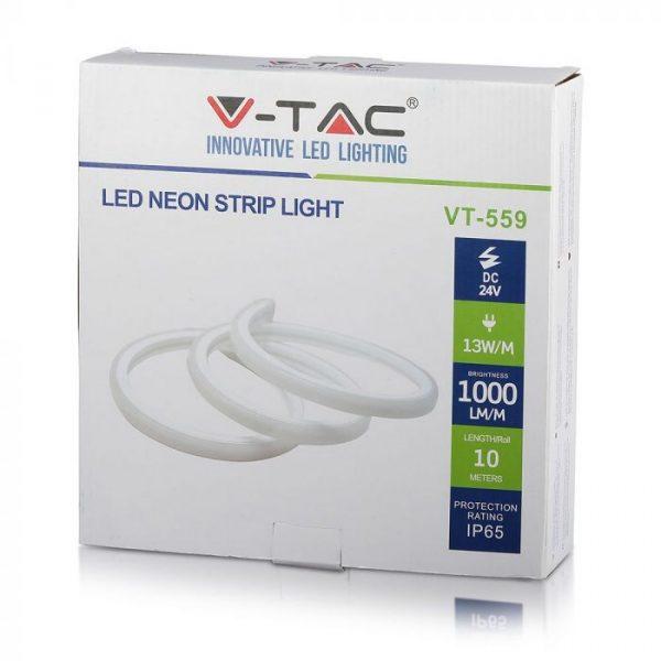13 W/m LED Silicone Neon Flex 24V DC IP65 10m roll
