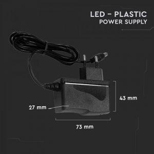 18W LED Plastic Power Supply EU Plug - 30W 12V 1.5A IP44