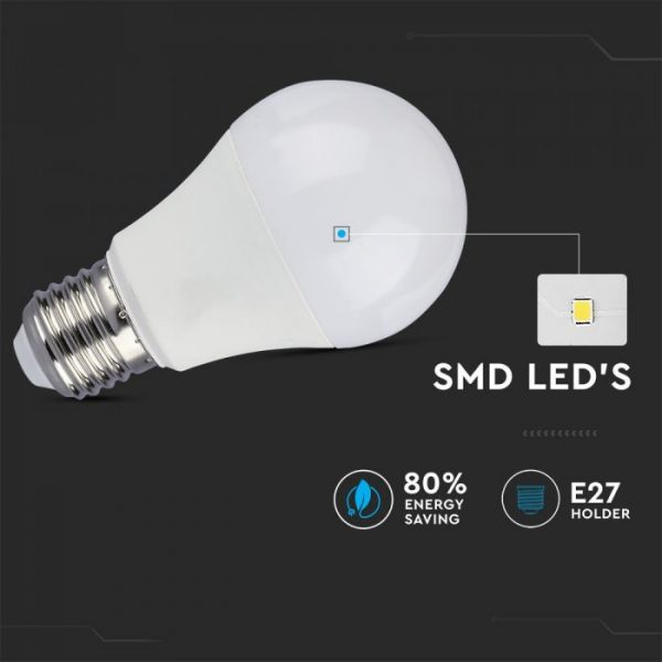 9W A60 LED Plastic Bulb 3 Step Dimming E27