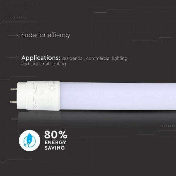 22W T8 LED Plastic Tube Non Rotatable 150cm G13