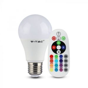 6W A60 LED Plastic RGB Bulb (Remote Control Dimmable) E27