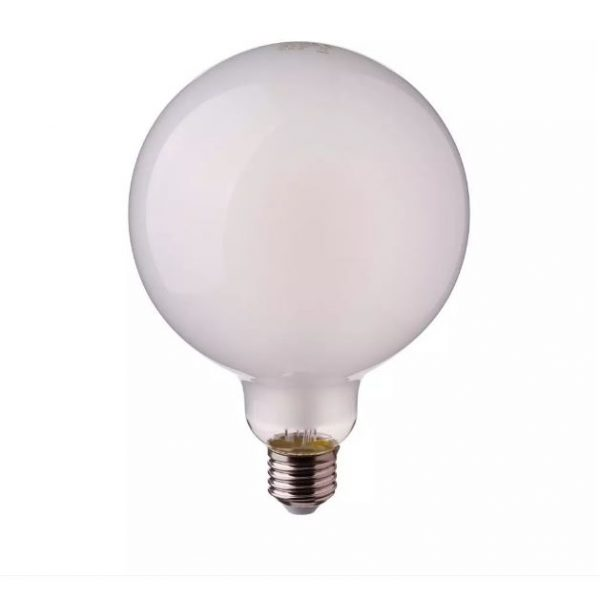 7W G125 LED Dimmable Filament Bulb Frost Glass E27 2700K