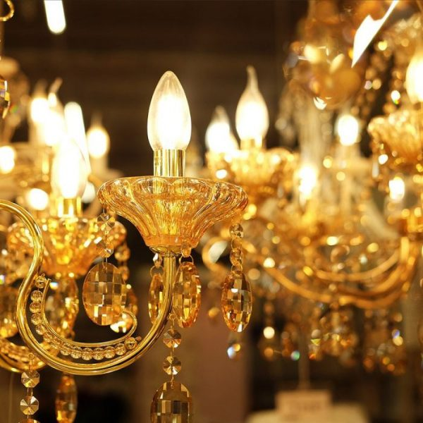 6W LED Candle Filament Bulb Clear Cover E14