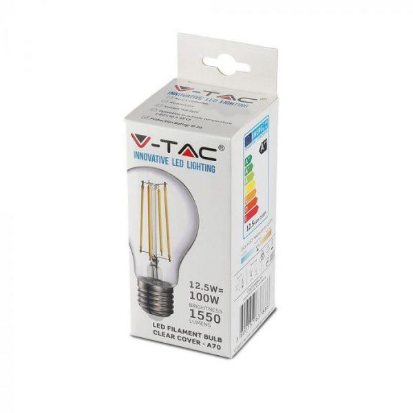 12.5W LED Bulb A70 - E27 Clear Glass