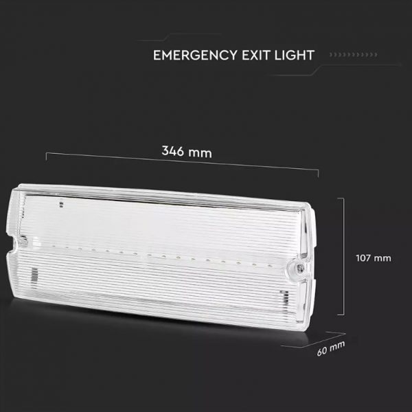 3W LED Emergency Light with Self Test Button