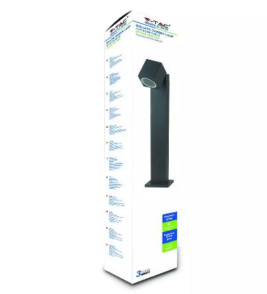 LED Bollard Lamp Adjustable Head GU10 Holder IP44